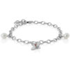 Forget Me Not 4 petals Bracelet With Pearls