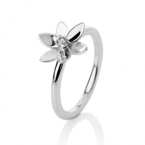 Forget me not, 6 petals, ring