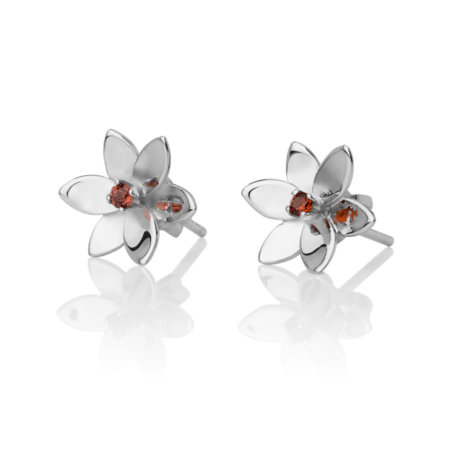Forget Me Not, 6 petals studded earrings