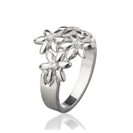 Summer Breeze Ring With Four Flowers