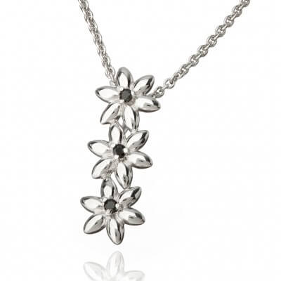 Asajewellery, summer breeze, capsule flower pendant