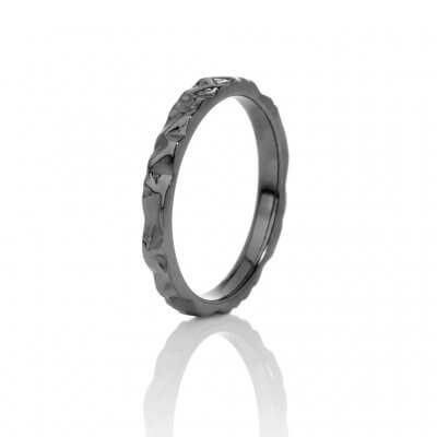 White Frost II, ring, black