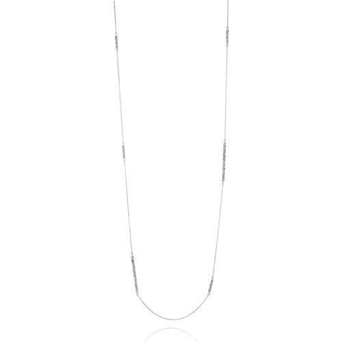 White Frost II, long chain necklace